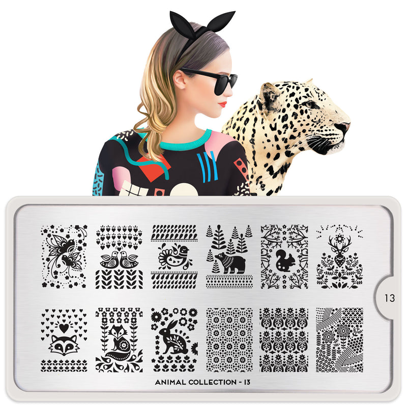 MoYou London Animal 13 stamping plate
