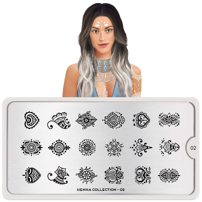 MoYou London Henna 02 stamping plate