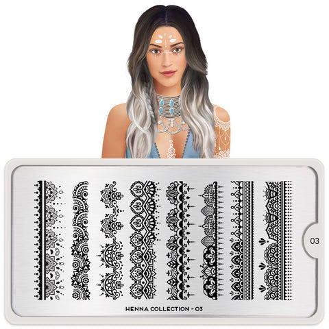 MoYou London Henna 03 stamping plate