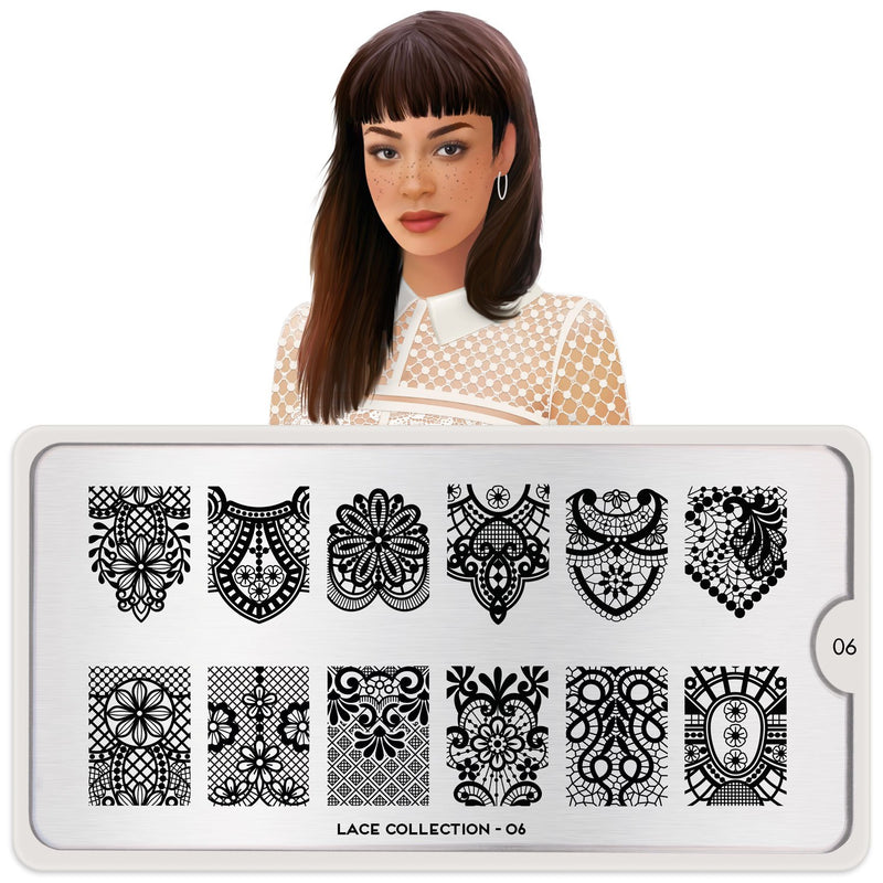 MoYou London Lace 06 stamping plate