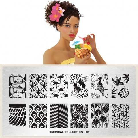 MoYou London Tropical 05 stamping plate