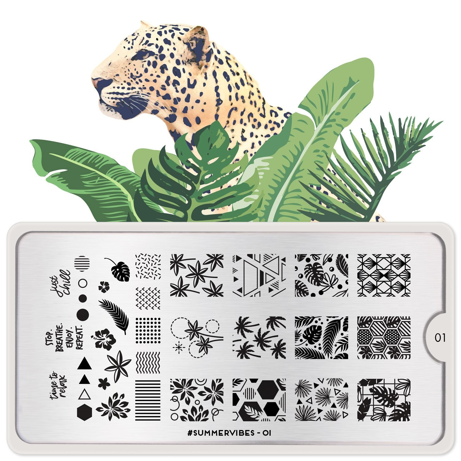 MoYou London #Summervibes 01 stamping plate