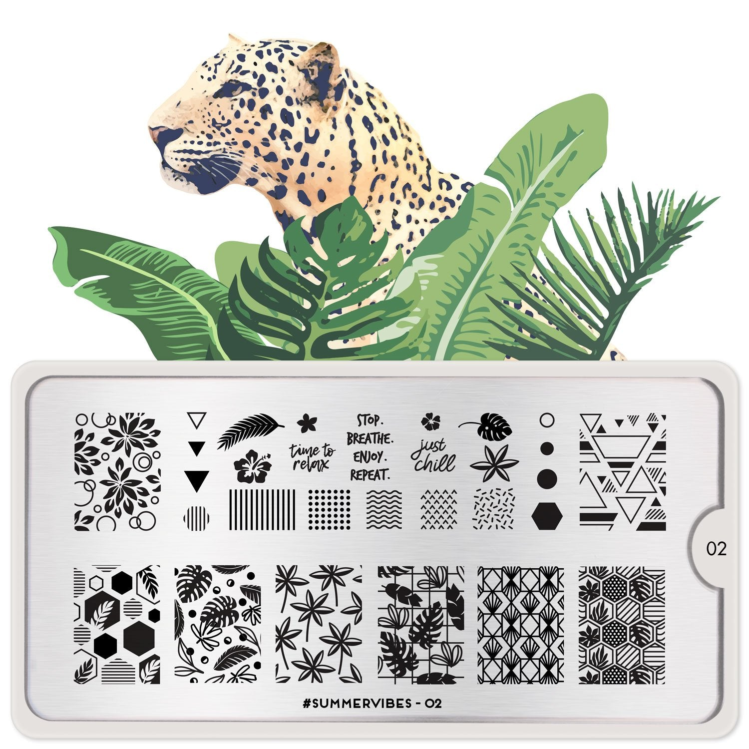 MoYou London #Summervibes 02 stamping plate