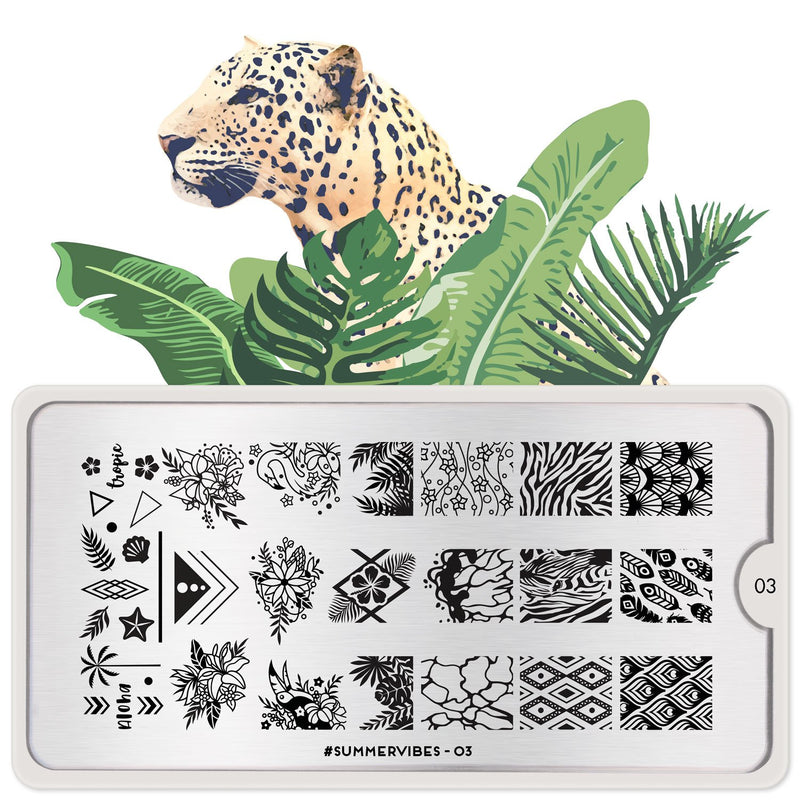 MoYou London #Summervibes 03 stamping plate
