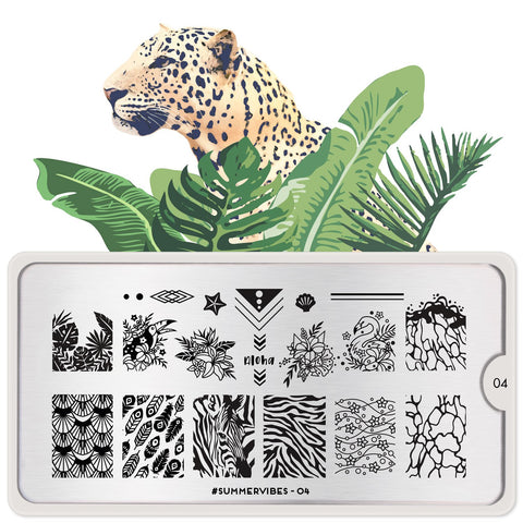 MoYou London #Summervibes 04 stamping plate