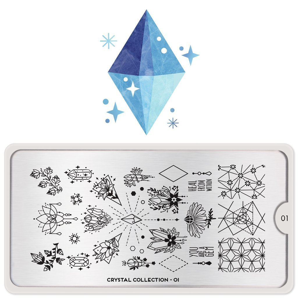 MoYou London Crystal 01 stamping plate
