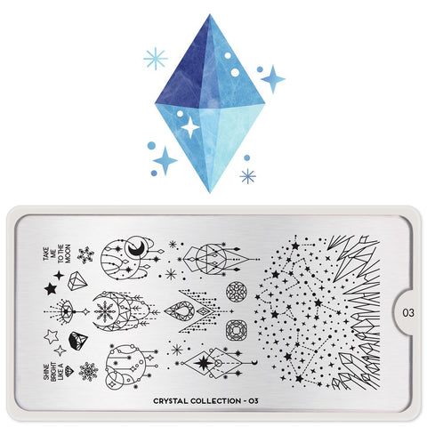 MoYou London Crystal 03 stamping plate