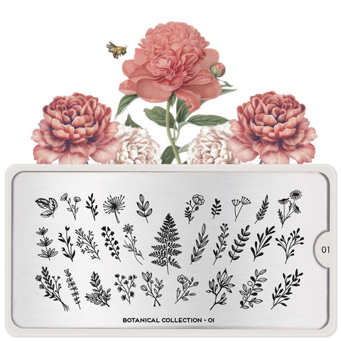 MoYou London Botanical 01 stamping plate