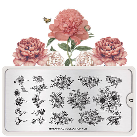 MoYou London Botanical 02 stamping plate