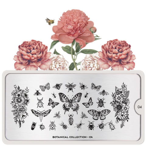 MoYou London Botanical 04 stamping plate