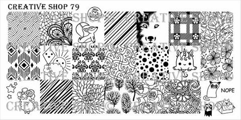Creative Shop 79 stamping plate