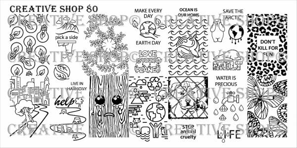 Creative Shop 80 stamping plate