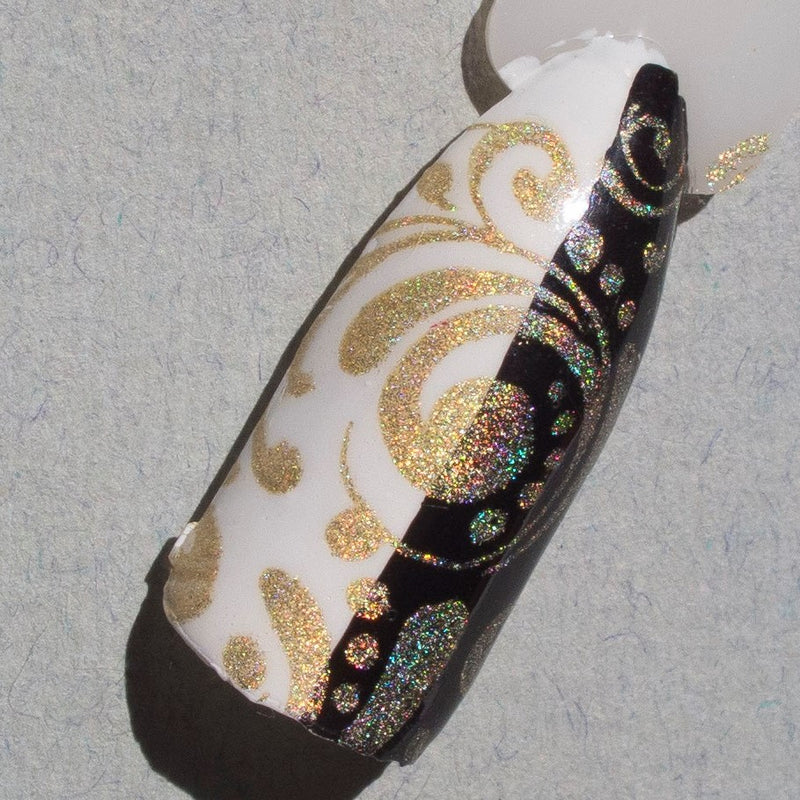 Hit The Bottle stamping polish - A Glint of Gold (9ml)