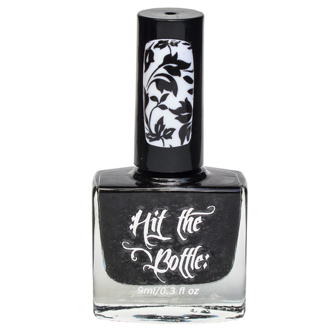 Hit The Bottle stamping polish - As Black as Night (5ml)