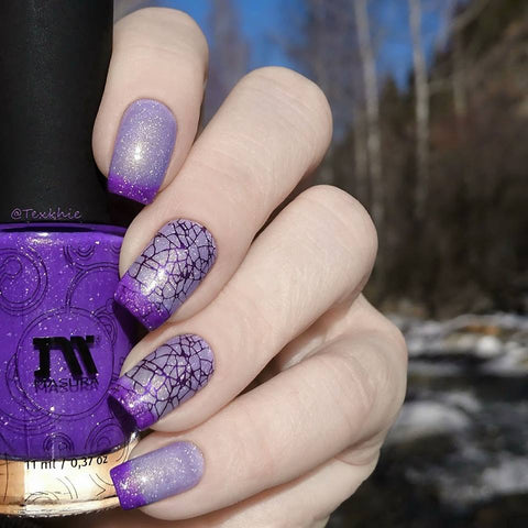 Hit The Bottle stamping polish - Aubergenie (5ml)
