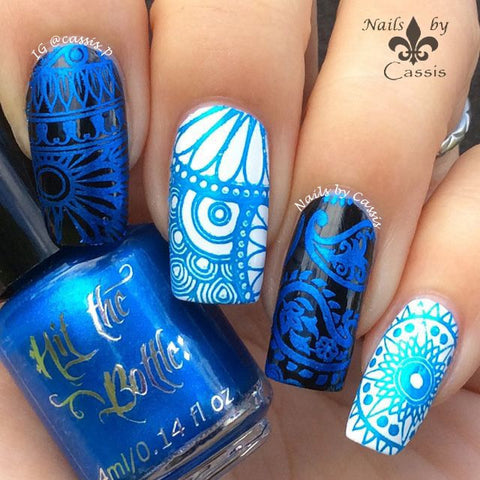 Hit The Bottle stamping polish - Blue-tiful (5ml)