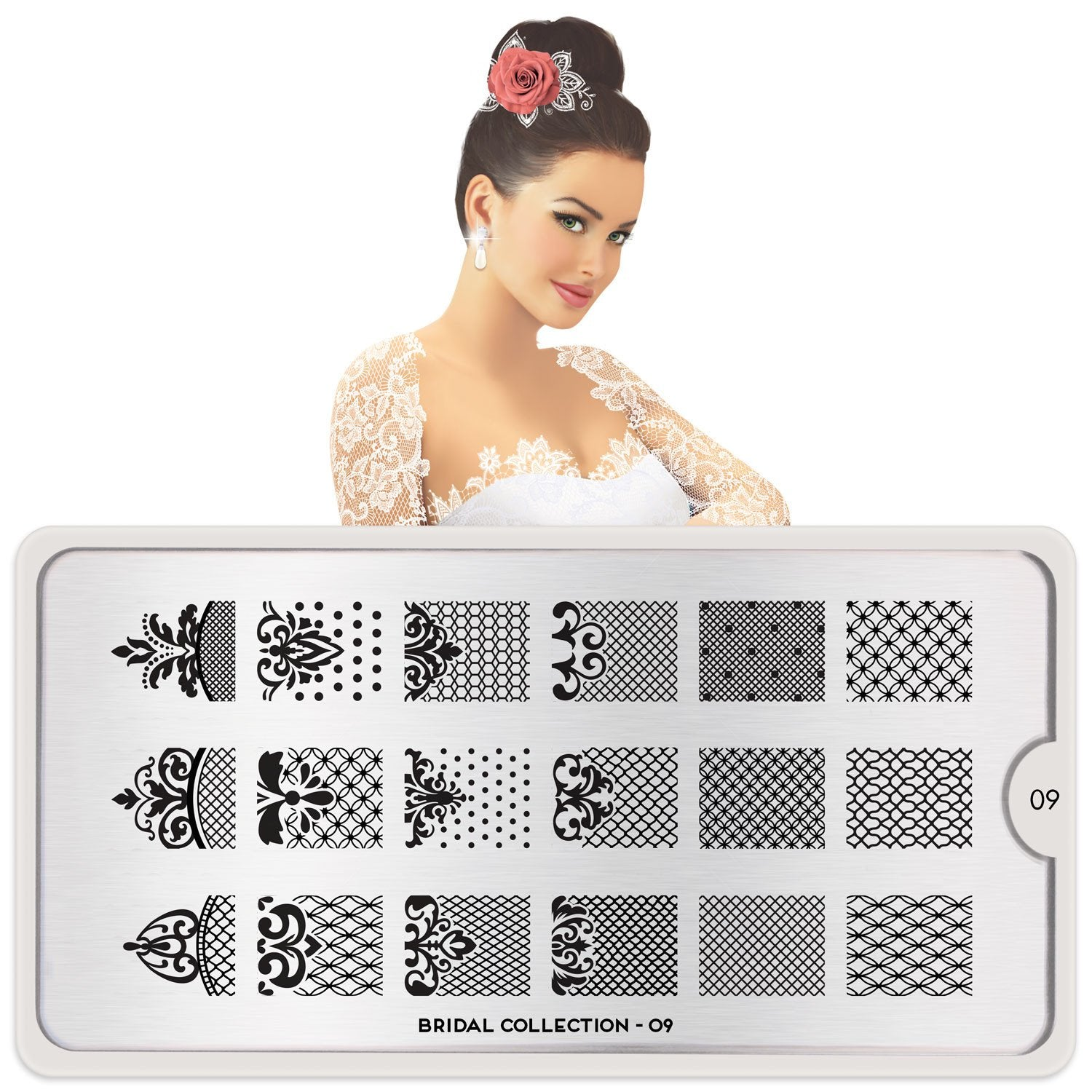 MoYou London Bridal 09 stamping plate