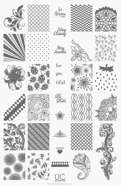 UberChic Collection 3 stamping plates