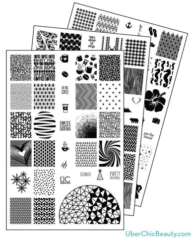 UberChic Collection 2 stamping plates
