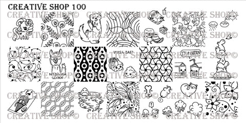 Creative Shop 100 stamping plate