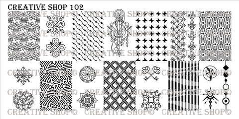 Creative Shop 102 stamping plate