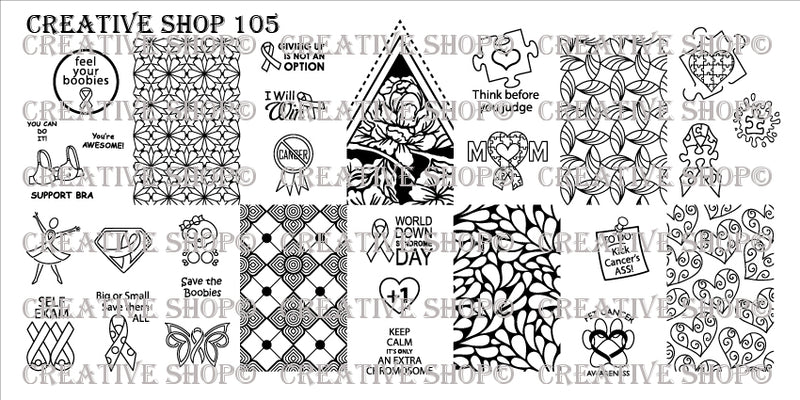 Creative Shop 105 stamping plate