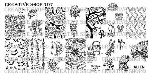 Creative Shop 107 stamping plate