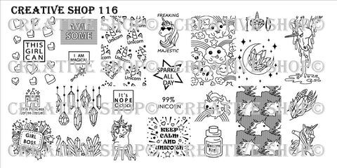 Creative Shop 116 stamping plate