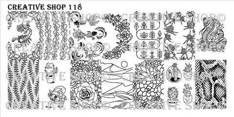 Creative Shop 118 stamping plate