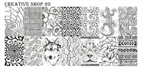 Creative Shop 20 stamping plate