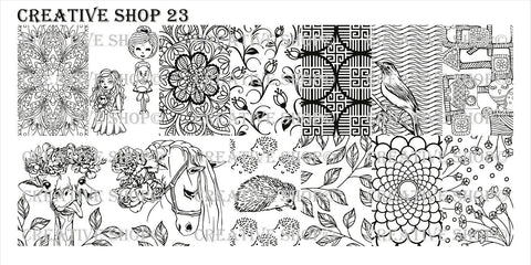 Creative Shop 23 stamping plate