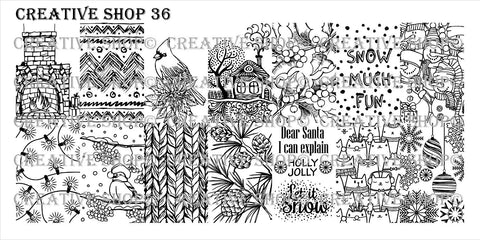 Creative Shop 36 stamping plate