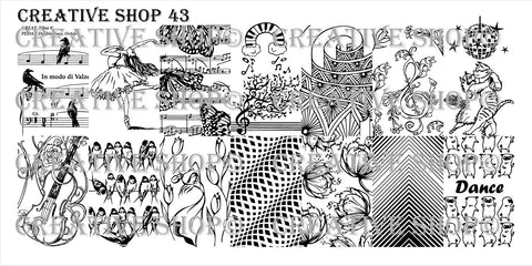 Creative Shop 43 stamping plate