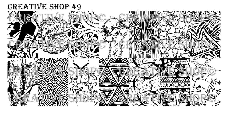 Creative Shop 49 stamping plate