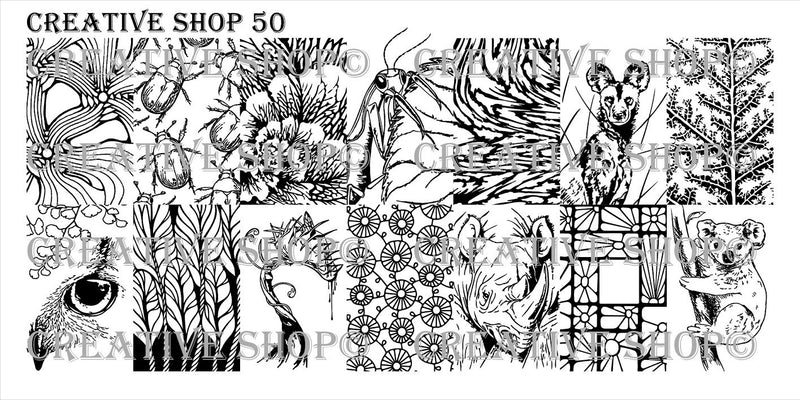 Creative Shop 50 stamping plate