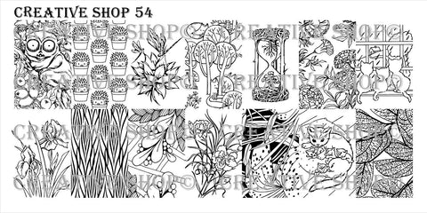Creative Shop 54 stamping plate