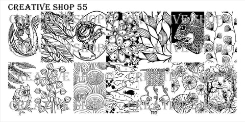 Creative Shop 55 stamping plate
