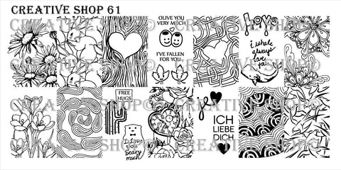 Creative Shop 61 stamping plate