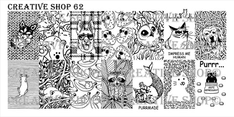 Creative Shop 62 stamping plate