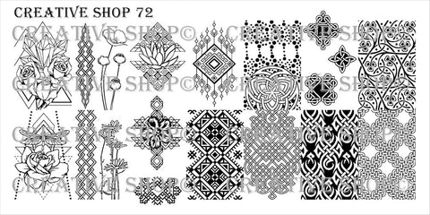 Creative Shop 72 stamping plate