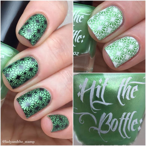 Hit The Bottle stamping polish - Cactus Juice (5ml)