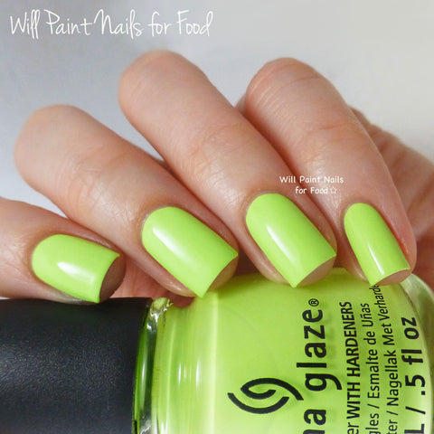 China Glaze - City Flourish - Grass Is Lime Greener