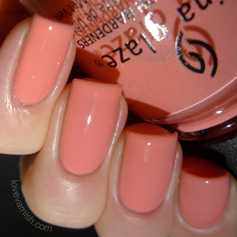 China Glaze - Road Trip - Pinking Out the Window