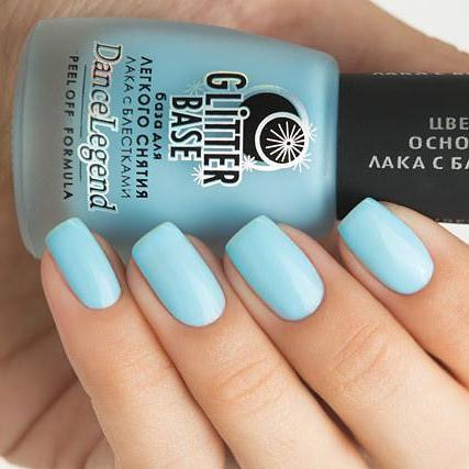 Dance Legend - Glitter Base Blue - peel off base coat
