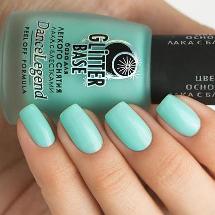Dance Legend - Glitter Base Mint - peel off base coat