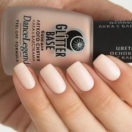 Dance Legend - Glitter Base Nude - peel off base coat