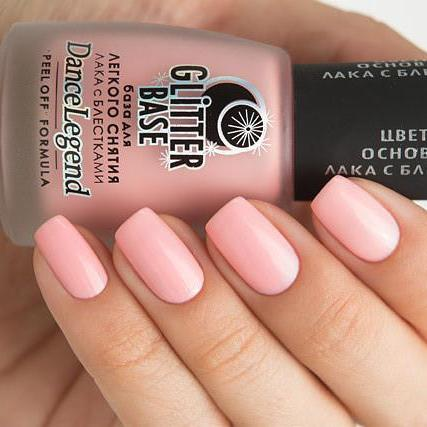 Dance Legend - Glitter Base Pink - peel off base coat