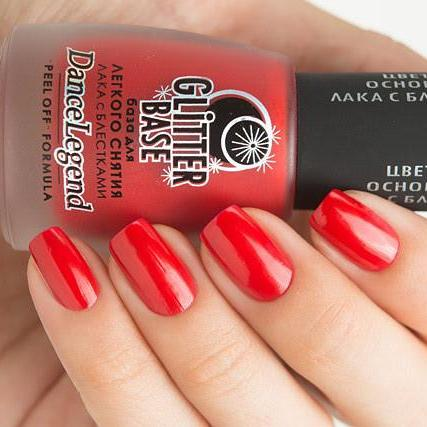 Dance Legend - Glitter Base Red - peel off base coat