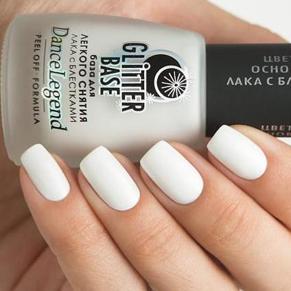 Dance Legend - Glitter Base White - peel off base coat