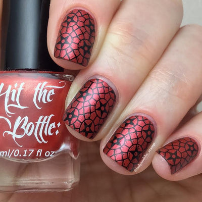 Hit The Bottle stamping polish - Drop Red Gorgeous (9ml)